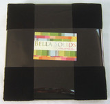 Bella Solids | Moda Fabrics | Black | Layer Cake - Main image