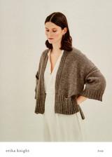 Fettle Cardigan 4ply Knitting Pattern   Erika Knight Wool Local