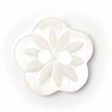 Flower Buttons   White   13 mm (BF\8030)