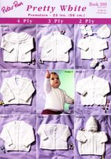 Peter Pan Knitting Pattern Book 289 - Pretty White