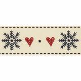 Berisfords | Snowflake Stitch Ribbon | 25mm | Half Metre Lengths