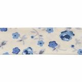 Essential Trimmings | Cotton Bias Binding | 20mm | Half Metre Lengths | Ditsy Flower | Blue Grey Cream