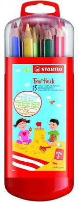 Stabilo Trio Thick Coloured Pencils - 15 pack