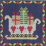 DMC   Cross Stitch Kit   Christmas Mini Kit   Santa Sleigh