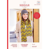 Adults Hat & Scarf Knitting Pattern | Sirdar Country Classic DK | Pattern No. 10089