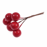 15mm Holly Berry Picks | Red | Bunch of 6 Stems | Occasions