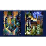 City Dreams   Karen Gillis Taylor   Clothworks Fabrics   CWY2775-96   Dark Indigo
