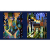 City Dreams | Karen Gillis Taylor | Clothworks Fabrics | CWY2775-96 | Dark Indigo