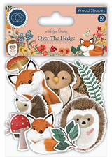 Craft Consortium | Over the Hedge | Printed Wooden Characters