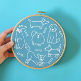 Hawthorn Handmade | Contemporary Embroidery Kit | Dandy Dogs