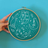 Hawthorn Handmade | Contemporary Embroidery Kit | Awesome Otters