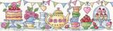 Heritage Crafts | Cross Stitch Kit | The Karen Carter Collection | Afternoon Tea