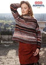 Bryce Pullover/Top Knitting Pattern | Adriafil Romanzo DK - Main Image