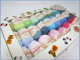 Sirdar Happy Cotton DK Gift Box, Range of 50 Colours | 20g Balls