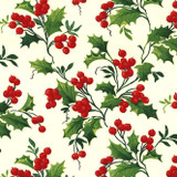 Boughs of Holly | Michael Miller | EQS Fabrics | 4571, Winter