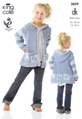 Baby / Childrens Dress, Hoodie, Cushion & Blanket DK Pattern | King Cole DK 3859