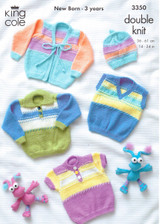 Baby / Childs Sweaters, Cardigans and Hat Pattern | King Cole 3350