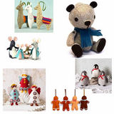 Corinne Lepierre Felt Sewing Craft Kits | Various Animals & Decorations
