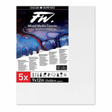 Daler Rowney   FW Mixed Media Canvas - 9 x12in pack of 5