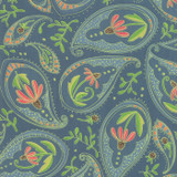 Painted Meadow | Robin Pickens | Moda Fabrics | 48661-12 | Teal