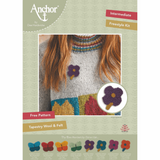 Dee Hardwick Needle Brooch Kit Collection | Felt Flowers| Anchor | Various Colours - Main