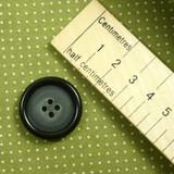 Dark Raised Edge Round Button with 4 Holes - 28 mm