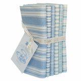 Tilda | Tea Towel Basics | Fat Quarter Bundle | 6 Pieces | Blue/Teal