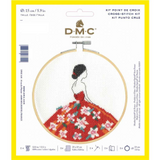 DMC Complete Cross Stitch Kit with Embroidery Hoop | Carmen