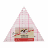 """Laser Cut, Printed 60° Triangle Patchwork Rule 