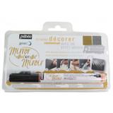 Pebeo Gredeo Mirror Effect Glue Marker Kit, 1.2mm tip - Main