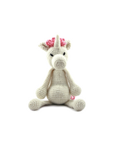 Toft Amigurumi Crochet Kits | Edward's Menagerie Animals | Kerry Lord | Chablis the Unicorn - Level 2 (Easy)