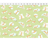 Guess How Much I Love You, When I'm Big | Anita Jeram | Clothworks Fabrics | CWY2872-23 | Nutbrown Hares, Green