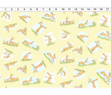 Guess How Much I Love You, When I'm Big | Anita Jeram | Clothworks Fabrics | CWY2872-59 | Nutbrown Hares, Pale Yellow