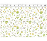 Guess How Much I Love You, When I'm Big | Anita Jeram | Clothworks Fabrics | CWY2873-1 | Flowers, White