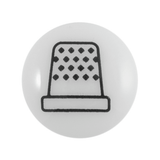 Groves | White Thimble Buttons | 13mm