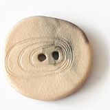 Random Shaped Button with etched swirl - 23 mm