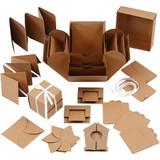 Creativ Company   Explosion Box with Central Box   Kraft Brown - Main Image