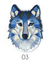 Ecusson Embrioded Iron-on Motif | Blue Wolf