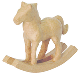 Rocking Horse | Brown | Papier Mache | Decopatch