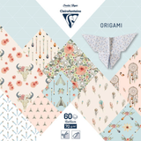 Boheme Chic | 70gsm Origami Paper | 15cm x 15cm | 60 Sheets | Clairefontaine