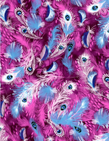 Decopatch Paper | Individual Sheets | 577 | Peacock Feathers Purple