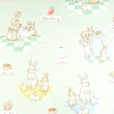 Bunnies & Cream | Lauren Nash | Penny Rose Fabrics | Kitchen Mint | 110x65cm Remnant | C6020-MINT