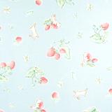 Bunnies & Cream | Lauren Nash | Penny Rose Fabrics | Bunnies & Strawberries | C6021-BLUE | 1.1m Remnant