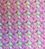 Watercolour Floral | Small Blue Tits | Fabric Freedom | FF168 | Pink