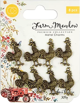 Craft Consortium | Farm Meadow | Rooster Charms