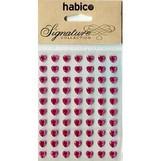 Self Adhesive Heart Shaped Gems   Habico   8mm   Cerise