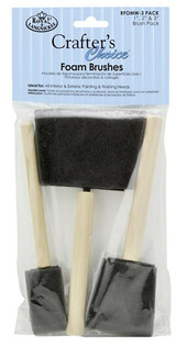 Royal & Langnickel Crafters Choice Foam Brushes | Set of 3