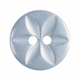 Polyester Star Button | Pale Blue | 14 mm