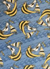 Riddles & Rhymes- Sky | Free Spirit Fabrics | PWTG158-BLUES | Dark Ships