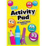 A4 Childrens' Activity Drawing Pad with Coloured Pages | 32 Pages | Perkins
